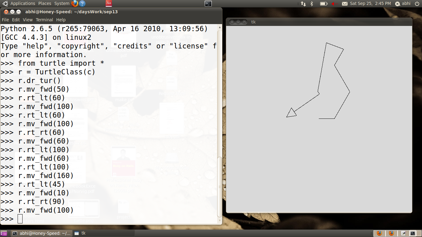 Drawing Lines With Tkinter : Turtle graphics programming in python the rails drop a